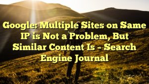 Google: Multiple Sites on Same IP is Not a Problem, But Similar Content Is – Search Engine Journal