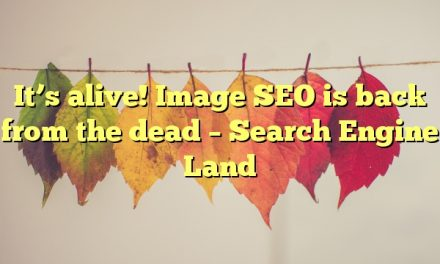It's alive! Image SEO is back from the dead – Search Engine Land