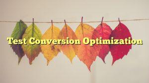 Test Conversion Optimization