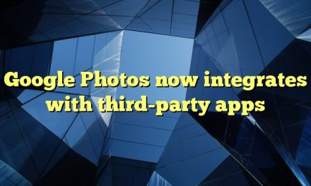 Google Photos now integrates with third-party apps