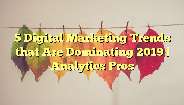 5 Digital Marketing Trends that Are Dominating 2019   Analytics Pros