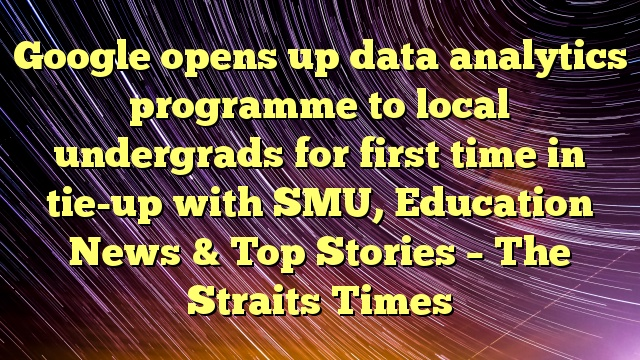 Google opens up data analytics programme to local undergrads for first time in tie-up with SMU, Education News & Top Stories – The Straits Times
