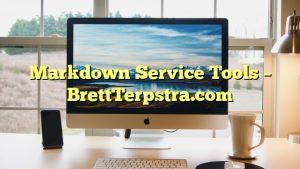 Markdown Service Tools – BrettTerpstra.com